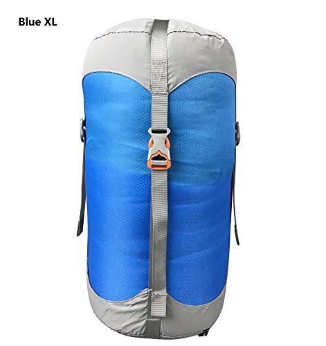 Générique Sac de Compression en Nylon pour Sacs de Couchage - 4 Couleurs - 4 Tailles - Couleur : Bleu - XL