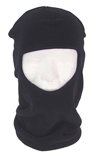 Cagoule 1 trou balaclava skimaske polyester noir très chaude en polaire noir