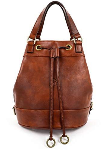 Time Resistance Leder Tasche Damen Beuteltasche Schultertasche Handtasche (Hellbraun)
