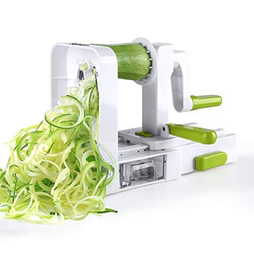 Sedhoom Spiralizer 5 Lames Coupe-légumes Spirale de légumes, Pliable trancheuse Spirale,...