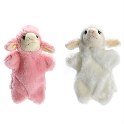 ARTFFEL Animal Lindo ovejas marioneta de Mano del bebé de los niños del Desarrollo Suave Felpa de la muñeca Juguetes Funcionamiento de la Etapa Puntales niños Regalo de cumpleaños Precioso Natural