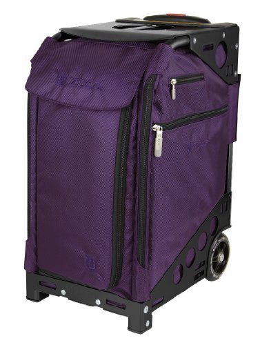 ZUCA Pro Travel Case - Purple Bag and Black Frame with 5 Packing Pouches and a Travel Cover