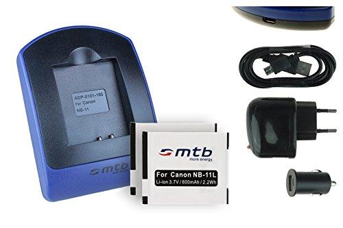 2 Baterìas + Cargador (USB/Coche/Corriente) NB-11L para Ixus 125 HS, 240 HS, 265 HS. Powershot A3500 IS, SX400 IS Ver Lista