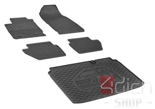 Passgenaue Kofferraumwanne und Gummifußmatten geeignet für Ford EcoSport ab 2018 + Autoschoner MONTEUR