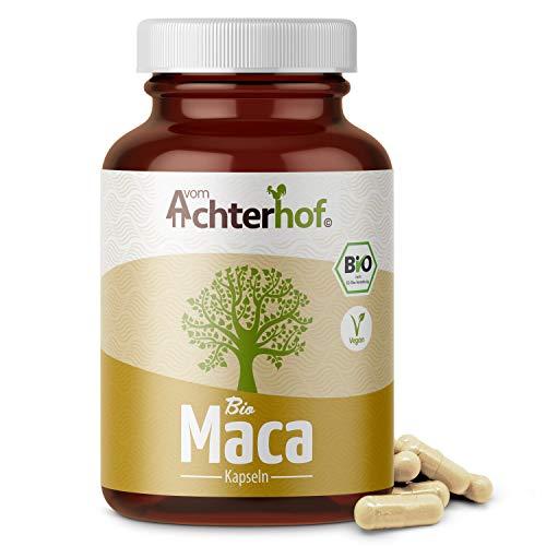Maca Kapseln BIO | 180 Stück | hochdosiert mit je 3000mg Maca-Pulver pro Tagesdosis | vegan | 100% reine Macawurzel aus Peru