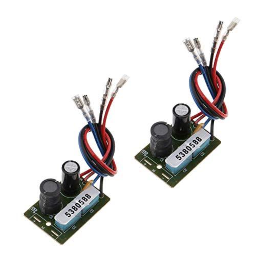2 delar 60W 2-vägs delningsfilter Frekvensdelare