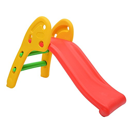 HOMCOM Kinderrutsche für 2-7 Jahre Kinder Rutsche Spielzeug Slide Gartenrutsche Babyrutsche Mehrfarbig 110 x 54 x 70 cm