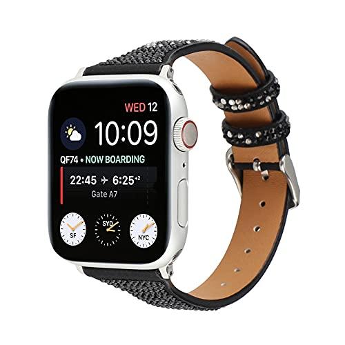 KAEGREEL Correa Compatible con Apple Watch 38 mm 40 mm 42 mm 44 mm, Correa de Cuero para Reloj Compatible con iWatch Series SE 6 5 4 3 2 1,38mm/40mm