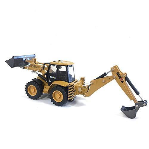 deguojilvxingshe 1:50 Zweiwege-Gabelstapler Baggerlader Engineering Fahrzeug Statisches Modell, Mini Gabelstapler Baufahrzeug Spielzeug, Child Boy Geburtstagsgeschenk