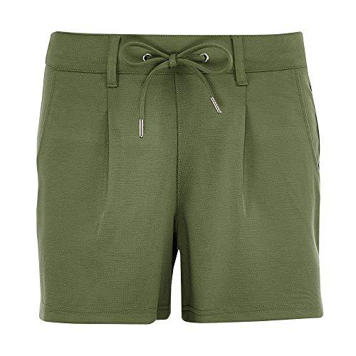 TOM TAILOR Denim Damen Freizeithose Shorts, 21586-dull Moss Green, L