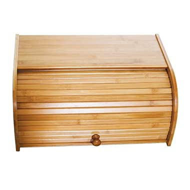 Lipper International 8846 Bamboo Wood Rolltop Bread Box, 15-3/4  x 10-3/4  x 6-3/4