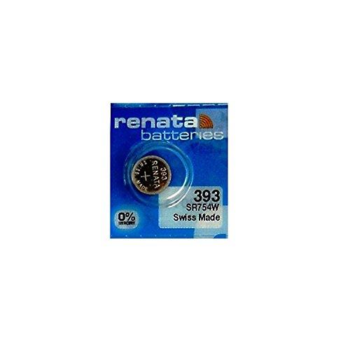 Pilas de repuesto Renata 393 SR754SW libre de mercurio, 1,55 voltios, para reloj