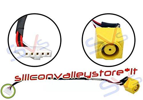 siliconvalleystore Connettore DC Power Jack con Cavo 17cm per Notebook Lenovo B590