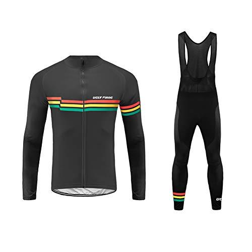 Uglyfrog Ropa de Bicicleta Hombre MTB Traje de Ciclismo Mangas Largas Maillot+Pantalones...