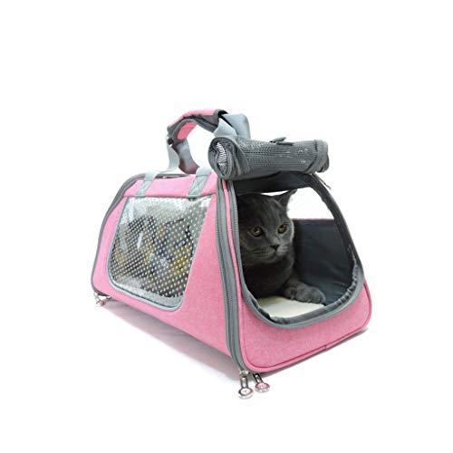 Cages JXLBB Sac pour Animal de Compagnie Chat Out Portable Sac à Dos pour Chien Sac de Chat Sac à bandoulière pour Chien Sac de à Chat Lapin À emporter Sac de Voyage (Color : Pink)
