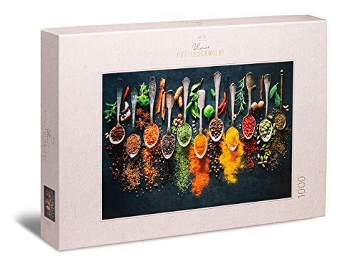 Ulmer Puzzleschmiede - Puzzle Especias y Hierbas - Puzzle de 1000 Piezas - Hermoso Atractivo en una Cocina Moderna