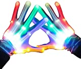 HITOP Led Gloves, Cool Unique Gifts Toys for Men Women Kids,Led Flashlight Gloves for Boy Girl(Rainbow color)