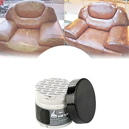 HHYSPA Leather Restoration Cream, Leather Repair Cream Filler Leather Refurbishing Cleaner, for Auto Car Seat Sofa Scratch Cracks Rips (White)