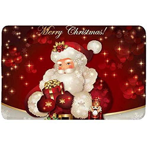 Auplew Alfombra navideña Decoración navideña