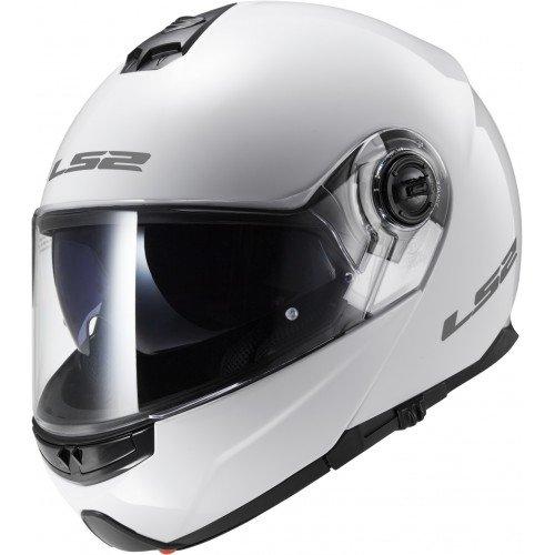 LS2 503251002L FF325 Casco Strobe Solid, Color Blanco, Tamaño L