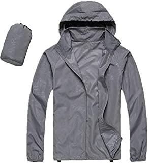 BEESCLOVER Men Women Quick Dry Hiking Jackets Outdoor Sport Skin Dust Coat Thin Waterproof UV Protection Camping Hoodie Top 3XL