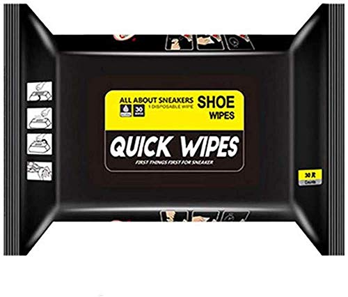 Disposable Shoe Wipes,Travel Portable Sneaker Disposable Quick Cleaning Wet Wipes White Shoes Artifact,No Wash Sports Shoes Detergent Wipes,Not Harm to Shoes (30PCS)