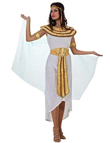 Atosa-70025 Disfraz Egipcia, color blanco, M-L (70025)