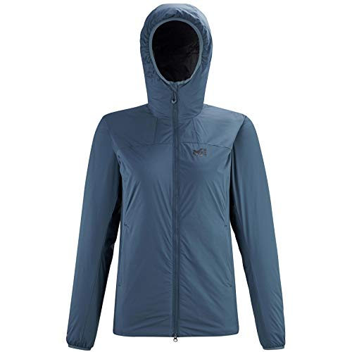 Millet – Chaqueta térmica K Belay Hoodie W Orion Blue para mujer, color azul, azul, medium