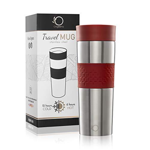 KAFFEEBECHER TO GO 450mL | Kaffee-Tee-Becher Thermo | Coffee To Go Becher Edelstahl Doppelwandig, Isotherm, Vakuumisoliert | Travel Mug, Auslaufsicher, Öffnung/Verschluss einfach