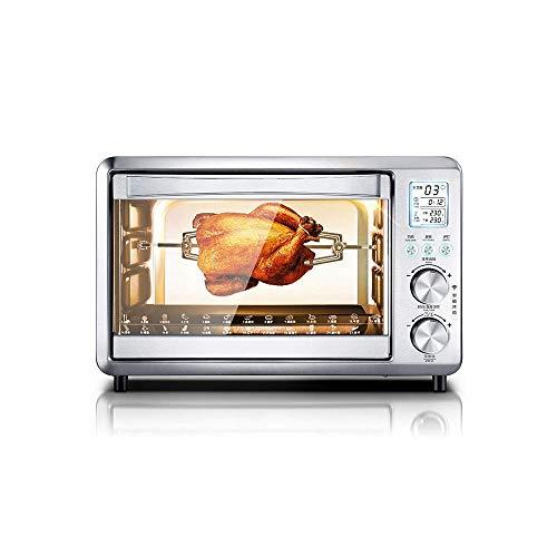 Electric oven ZLMI multifunctionele mini-oven automatische ovencapaciteit 30 liter en elektronische thermostaat, braden van gevogelte, multifunctionele oven, afmetingen: 36 x 36 x 30 cm