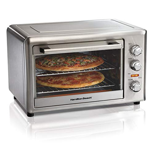 Hamilton Beach 31103Da Countertop Convection & Rotisserie Convection Oven, Extra-Large, Stainless Steel (Renewed)