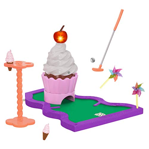 Glitter Girls by Battat – A Putt with a Cherry on Top! Mini Putt Playset – Toys, Games, and Accessories for 14-inch Dolls – Ages 3 and Up