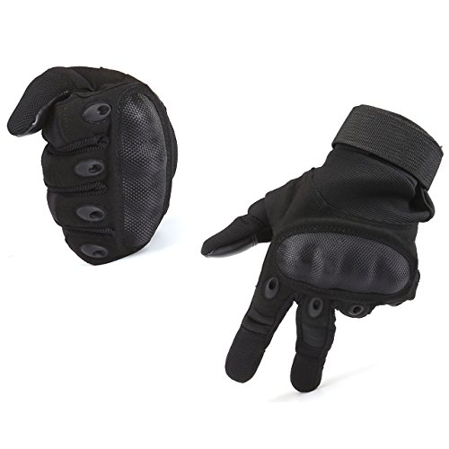 ACBungji Voller Finger Handschuhe Motorradhandschuhe für MTB Mountainbike Motorrad Motocross Quad Paintball Airsoft Security Tactical Militär KTM Fahrrad Rad Herren Damen Touchscreen (Schwarz, M)