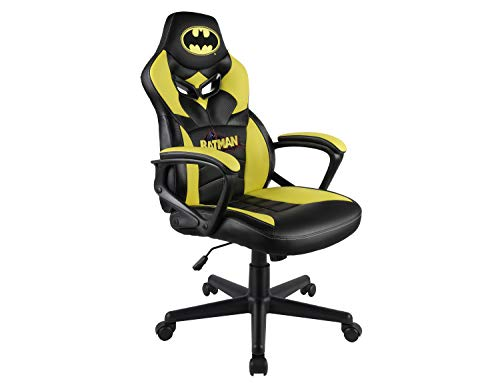 Subsonic Batman - Silla gaming junior - asiento gamer para escritorio - sillon de oficina - Licencia oficial DC Comics (PS4)