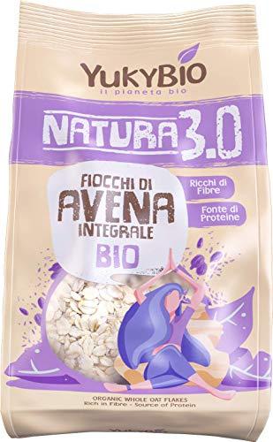 8 x Yukybio cereali biologici Fiocchi di Avena Integrale 500g