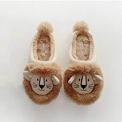 Chats Peluche Pantoufles-Hiver Pantoufles amener du confortable Cat Cadeau Unisexe