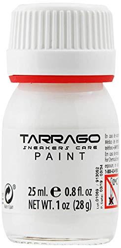 Tarrago | Sneakers Paint 25 ml con Pincel y Esponja | Colores Base | Pintura para Sneakers y Zapatillas de Cuero, Cuero Sintético y Lona (Blanco 01)