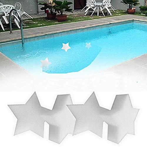 Albefy Lot de 10 éponges absorbant l'huile, super absorbantes, en forme d'étoile, outil de nettoyage pour piscine, cuisine