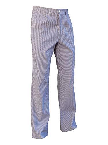 Marion - Pantalon de Cuisine Pied de Poule Homme ou Femme - Cuisinier et Restauration - 100% Coton - 1056 (42)
