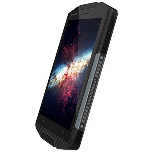 Hipipooo-F3000 IP68 impermeabile Anti-goccia anti-goccia 5 pollici sbloccato LTE 4G robusto Smartphone con Android 6.0 MTK6737 Quadcore Doppia SIM Slot(Nero)