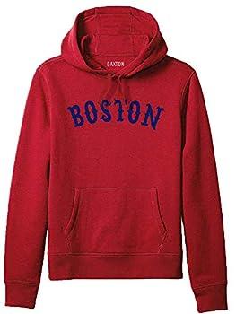 Daxton Adult Unisex Pullover USA Cities States Comfort Hoodie Fleece Sweatshirt Boston Red Navy 1XL