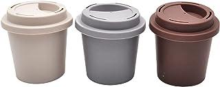 Minkissy 3Pcs Lege Valse Wimper Verpakking Dozen Koffiekopje Vorm Plastic Lash Dozen Nep Wimpers Box Wimper Lade Lash Mak...