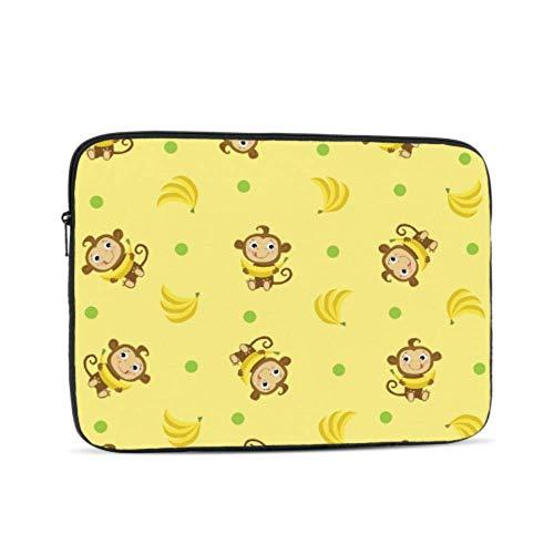 Laptop Sleeve Case 13 Inch Monkey Banana Cute Cartoon Animal Laptop Sleeve/Notebook Computer Pocket Case/Tablet Briefcase Carrying Bag