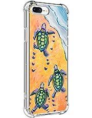Suhctup Compatible con iPhone 5/5S Funda para Silicona con Dibujos Animados Diseño Cárcasa Ultra-Fina Transparente Suave TPU Choque Cojín de Esquina Parachoque Caso-Tortuga 1