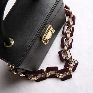 Adebie - Luxury Designer 50cm Acrylic Alloy Strap High Quality Handbag Resin Chain Plastic Short Shoulder Strap Bag Belt Bag Accessories 50CM Purple [50CM]
