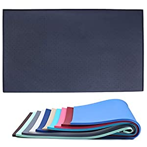 Vivaglory Pet Food Mat Large 24″ L x 16″ W or Small 19″ L x 12″ W Waterproof Non-Slip Food Grade Silicone Mat Anti-Messy Design for Puppy Kitty Dog Cat Small Medium Large Animals