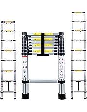 Telescopische ladder 2.6M multifunctionele opvouwbare aluminium telescopische ladder uitschuifbare draagbare loft ladder opvouwbare ladder met EN131 en CE standaard (8.5FT/2.6M)