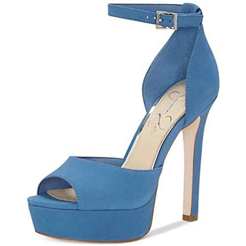 Jessica Simpson Womens Beeya Ankle Strap Heel Sandals Blue 9.5 Medium (B,M)