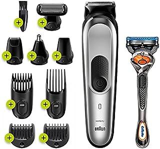 Braun All-in-one trimmer MGK7220, 10-in-1 trimmer, 8 attachments and Gillette Fusion5 ProGlide razor