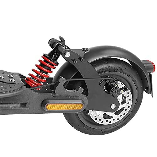 Tmom Amortiguador trasero para Xiaomi M365 Pro / Pro2 / 1s / M365 Scooter eléctrico Rueda Trasera Suspensión con Guardabarros Se puede montar Matrícula Scooter Accesorios (Rojo - para M365 Pro/ Pro 2)